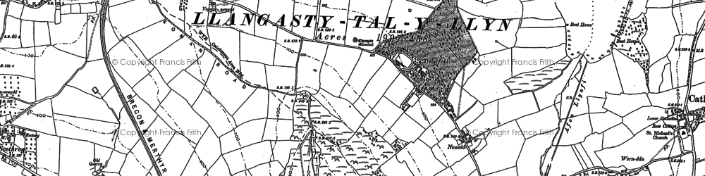 Old map of Allt y Esgair in 1886