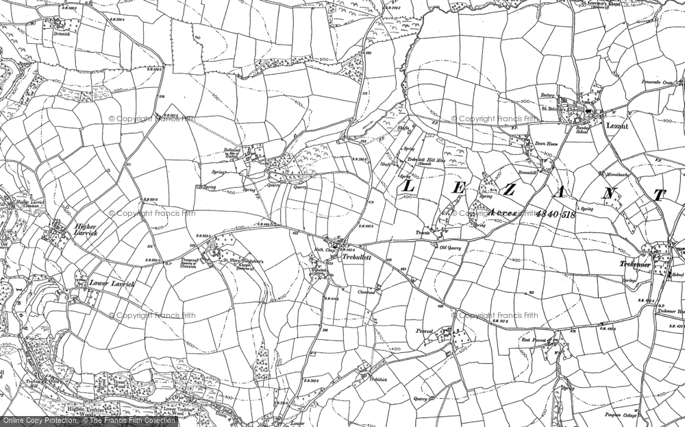 Old Map of Historic Map covering Larrick in 1882