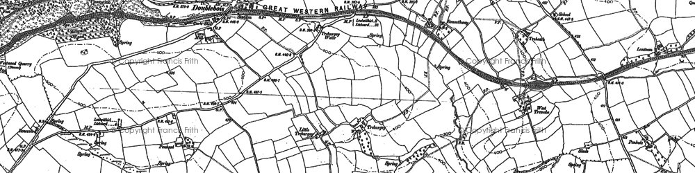 Old map of Treburgie in 1881