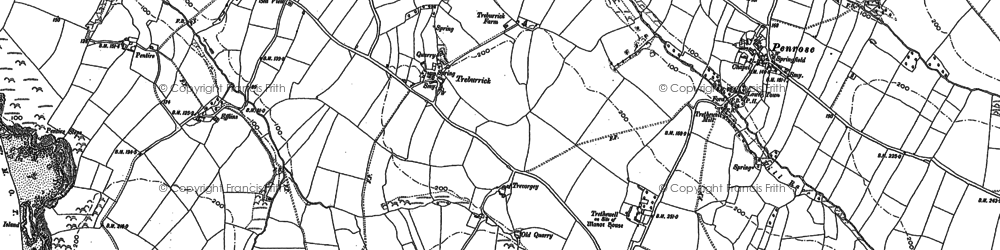 Old map of Treburrick in 1880