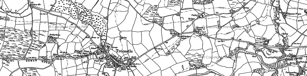 Old map of Ynys-Clydach in 1884