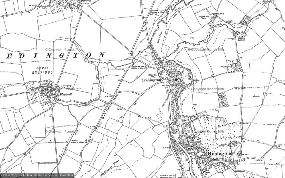 Old Map of Tredington, 1900 - 1904 in 1900