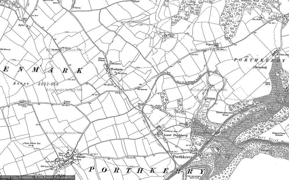 Old Maps of Cardiff Airport Francis Frith