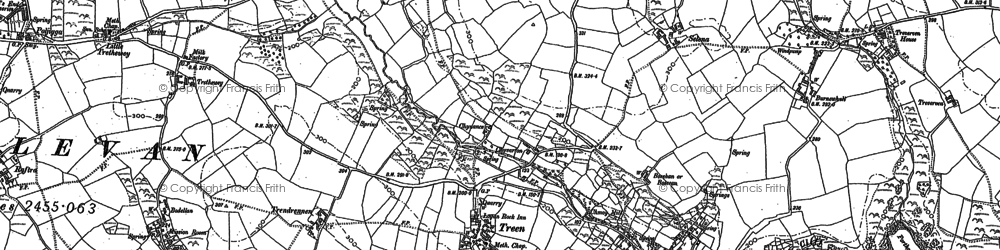 Old map of Treen in 1906