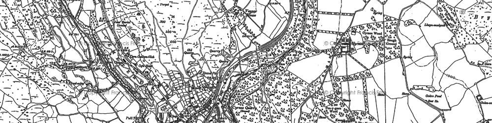 Old map of Afon Taf Fawr in 1884