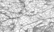 Old Map of Trefeglwys, 1885