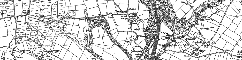 Old map of Leweston in 1887