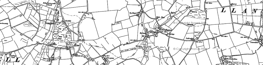 Old map of Abernant in 1906