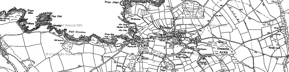 Old map of Trefin in 1906