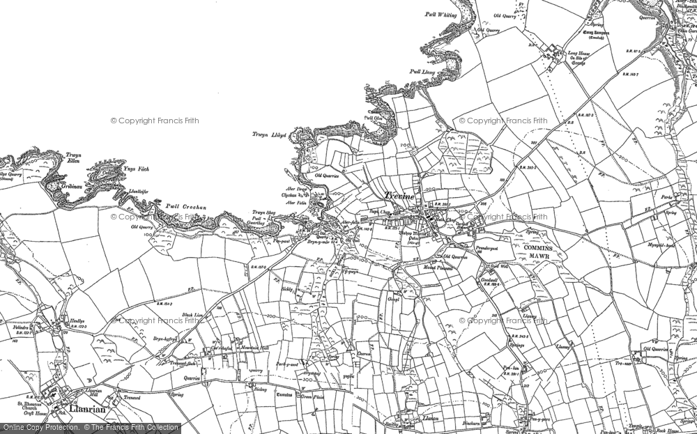 Old Map of Historic Map covering Aber Draw in 1906