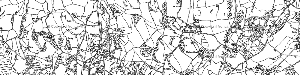 Old map of Whitehaven in 1874