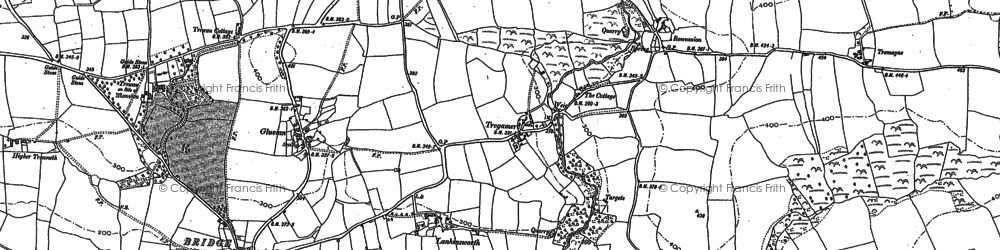 Old map of Retallack in 1880