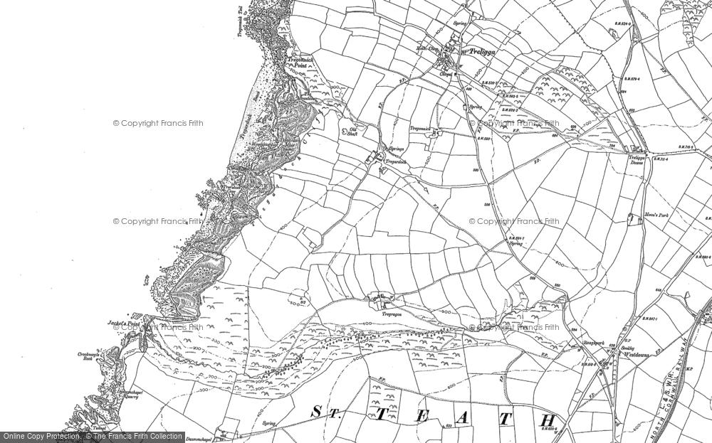 Old Map of Tregardock, 1905 in 1905