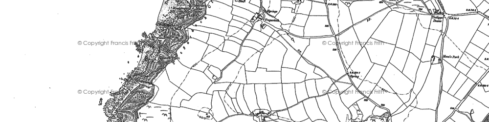 Old map of Tregardock in 1905
