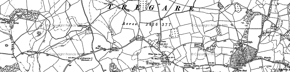 Old map of Artha in 1900