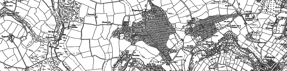 Old map of Buryas Br in 1906