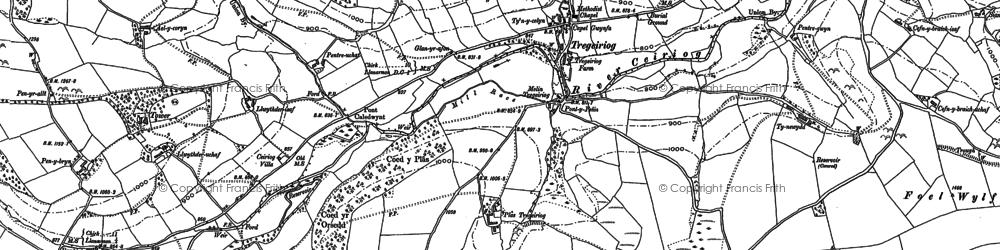 Old map of Tomen y Gwyddel in 1910