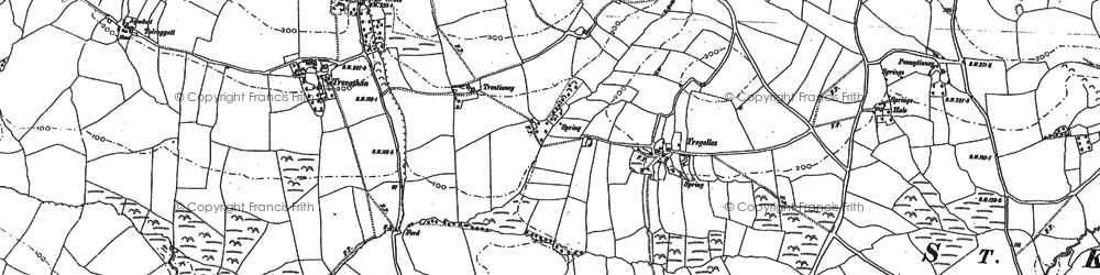 Old map of Pennytinney in 1880