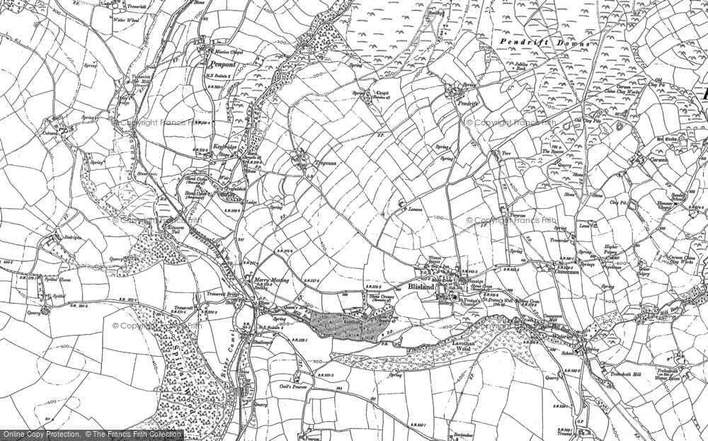 Old Map of Historic Map covering Lavethan in 1880