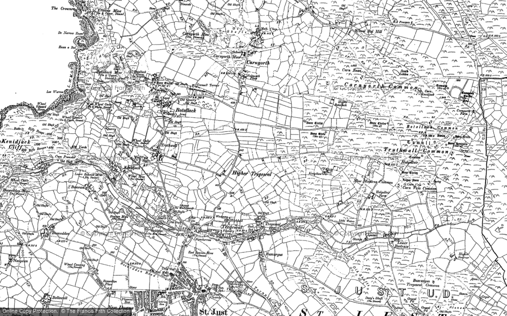 Old Map of Historic Map covering Leswidden in 1906