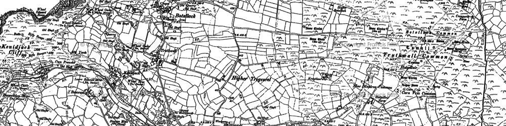 Old map of Leswidden in 1906
