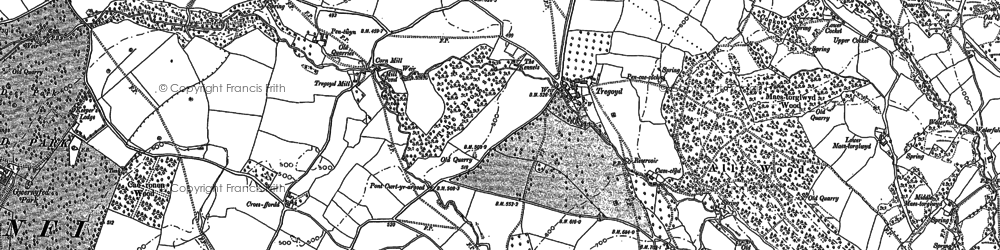 Old map of Allt Wood in 1887