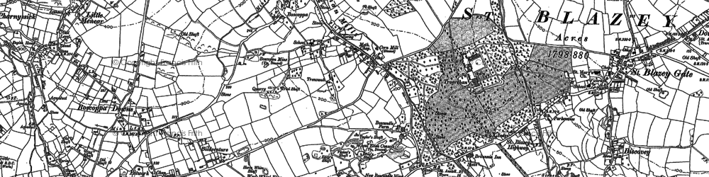 Old map of Boscoppa in 1906