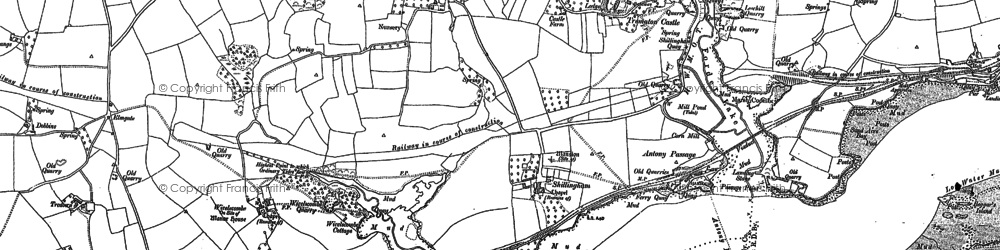 Old map of Wivelscombe in 1883