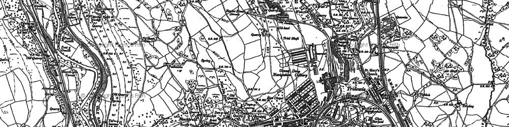 Old map of Treharris in 1898