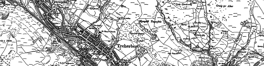 Old map of Tynewydd in 1897