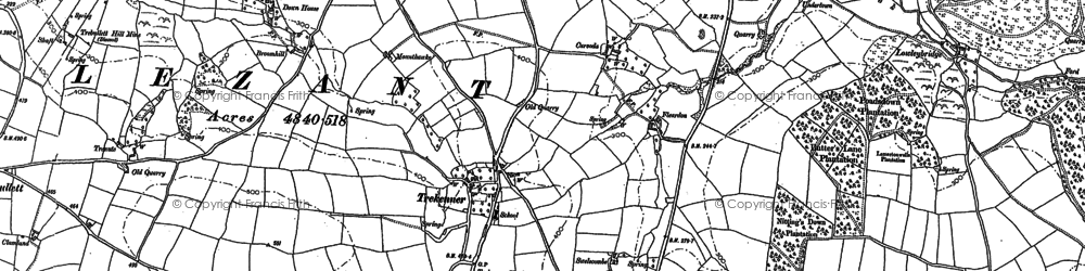 Old map of West Penrest in 1882