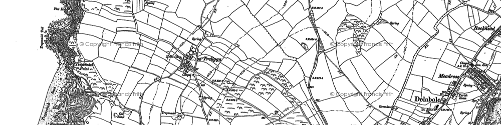 Old map of Backways Cove in 1905