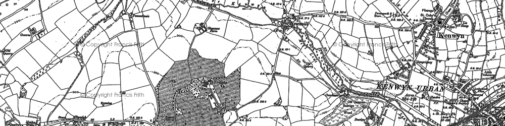 Old map of New Mill in 1879