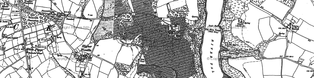 Old map of Trelissick in 1878