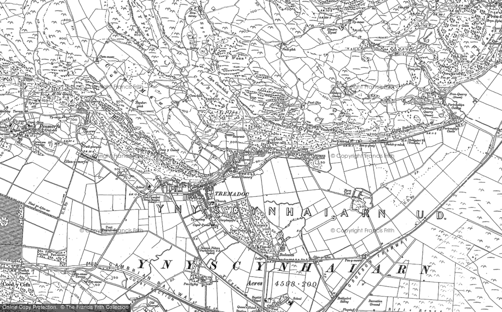 Old Map of Historic Map covering Allt-wen in 1899