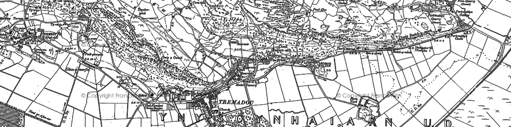 Old map of Allt-wen in 1899