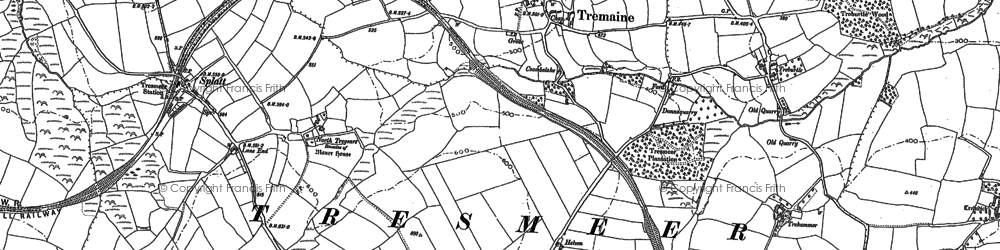 Old map of Wiggaton in 1882