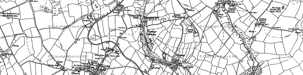 Old map of St Cleer in 1882