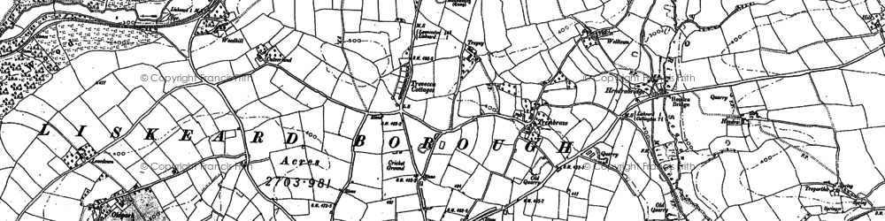 Old map of Addington in 1882
