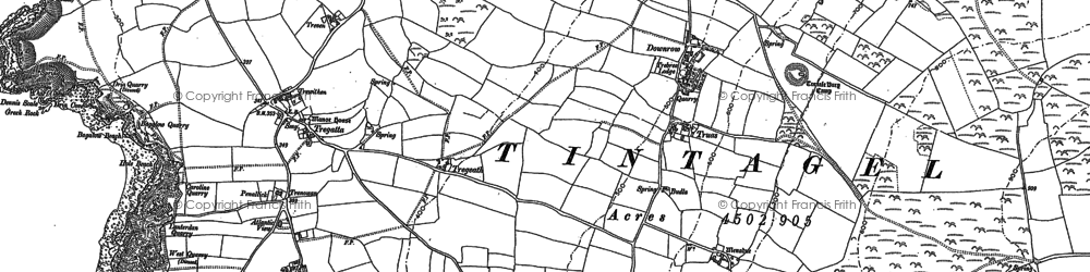 Old map of Halgabron in 1905