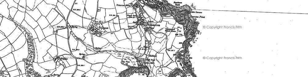 Old map of Trenarren in 1881