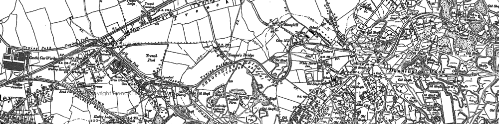 Old map of Trench in 1881