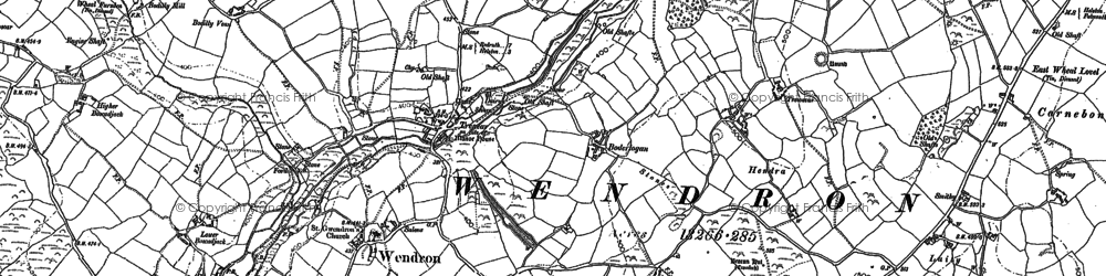 Old map of Bodilly in 1877