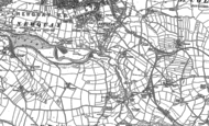 Old Map of Treninnick, 1906