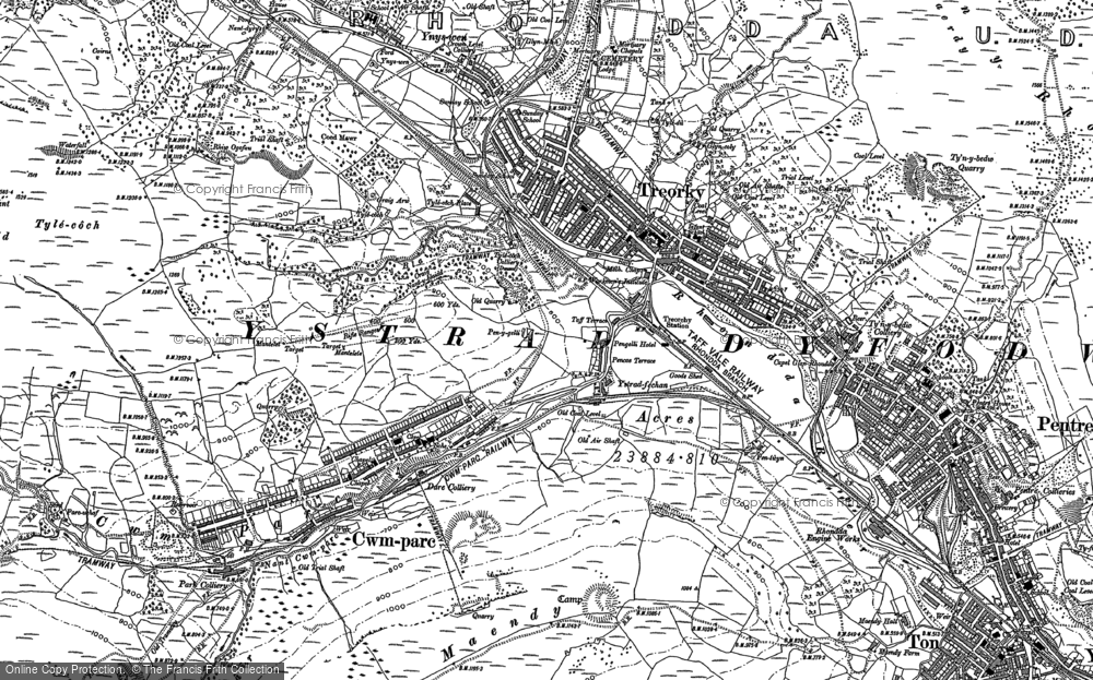 Old Map of Treorchy, 1897 - 1898 in 1897