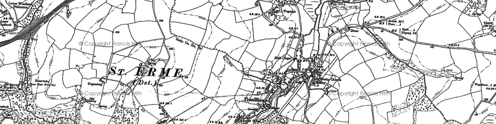 Old map of Merther in 1880