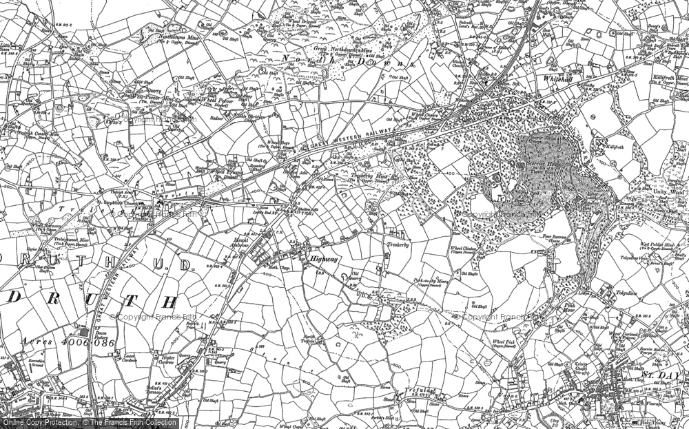 Old Map of Treskerby, 1879 - 1906 in 1879