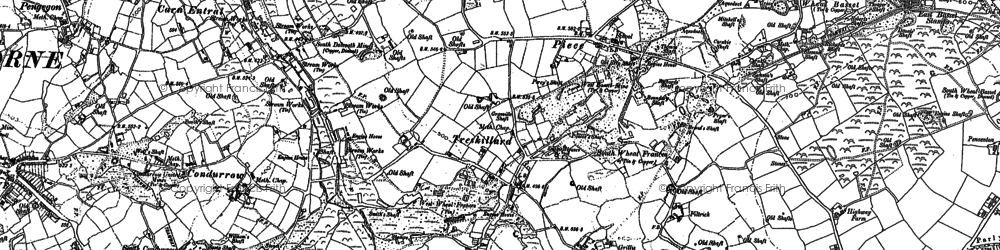 Old map of Carn Arthen in 1878