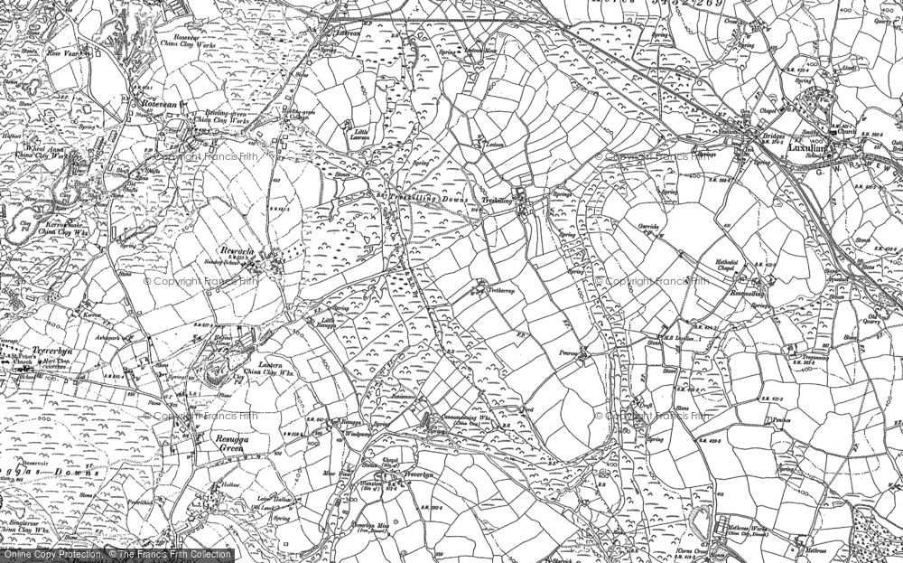Old Map of Historic Map covering Lavrean in 1881
