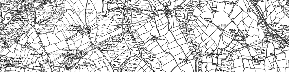 Old map of Lavrean in 1881